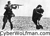 Nazi shooting un-armed woman and child. :-(